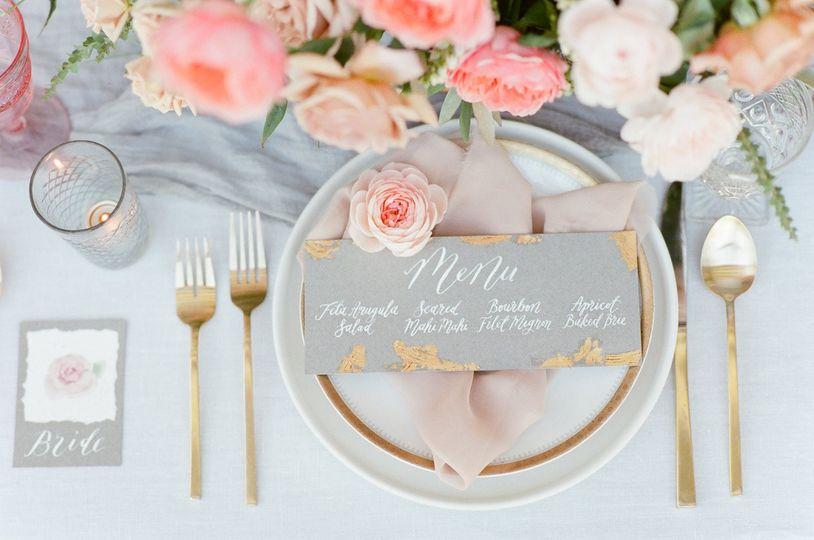Menu and table setting