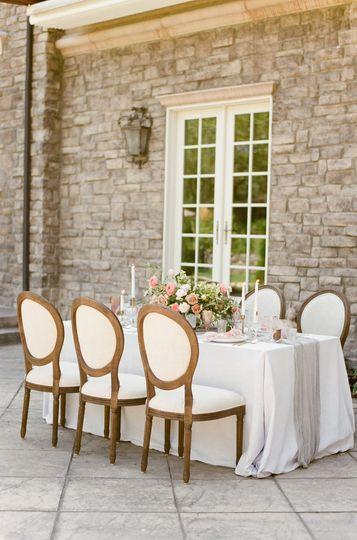 Set reception table