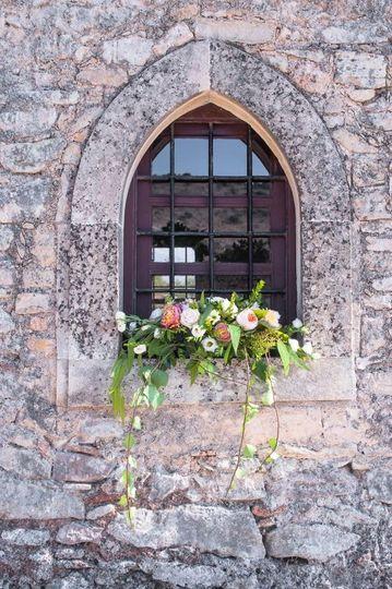 Stone chapel wedding