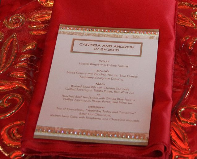 Our menu cards are tailored to fit your tablescape.  We match your color scheme and decor style, and...