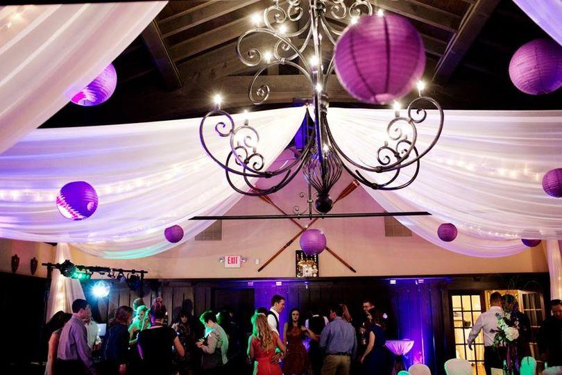 chandalier purple