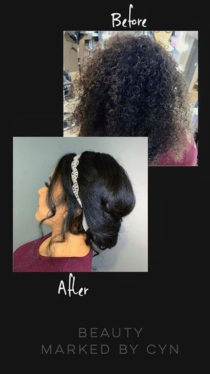 Bridal Hair (before/after)