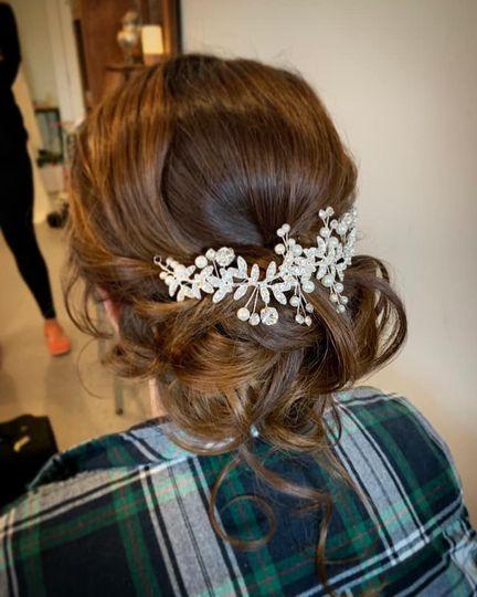 Bridal Hair at Pine Ridge Farm