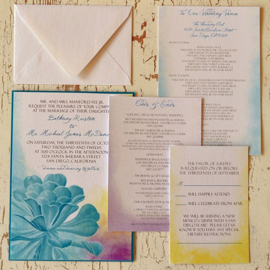 Head Over Heels for Succulents - Wedding Invitations