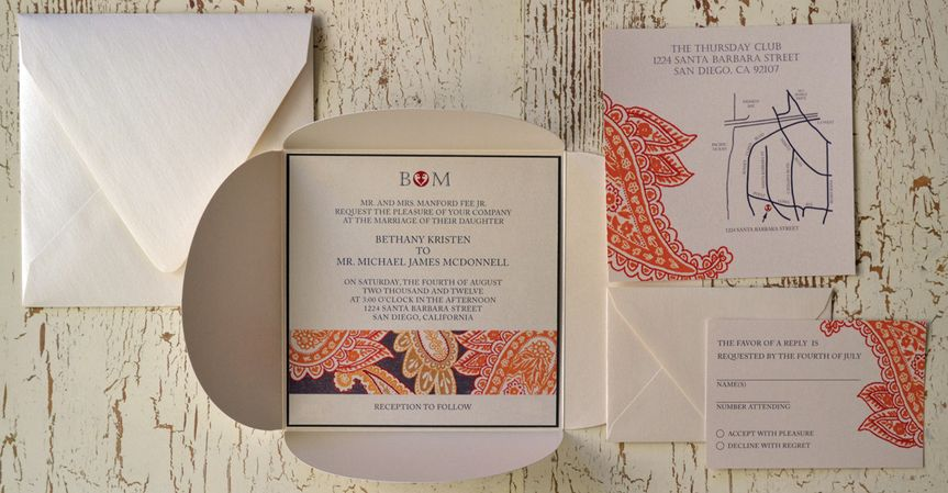 Simply Paisley - Wedding Invitation