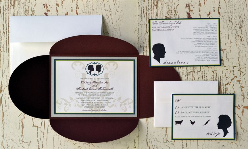 Silhouette Love - Wedding Invitation