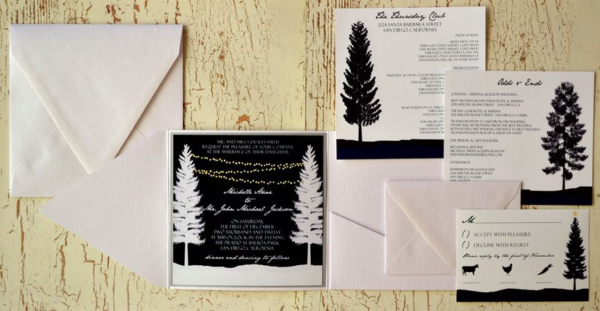 Winter Trees - Wedding Invitation