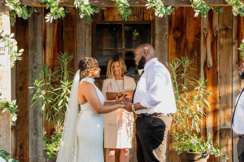 A beautiful backyard wedding