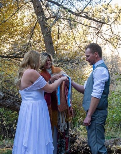 Hand fasting in the forest
