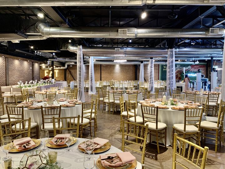 Gold theme wedding reception