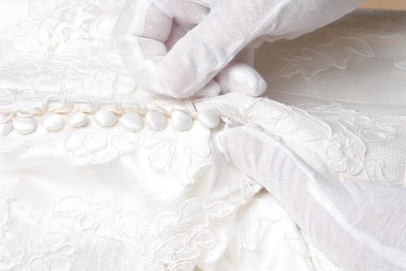 National Gown Cleaners LLC webpage wedding gown.