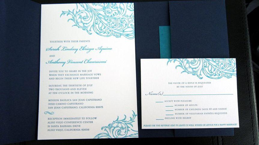 Invitation with embellishments