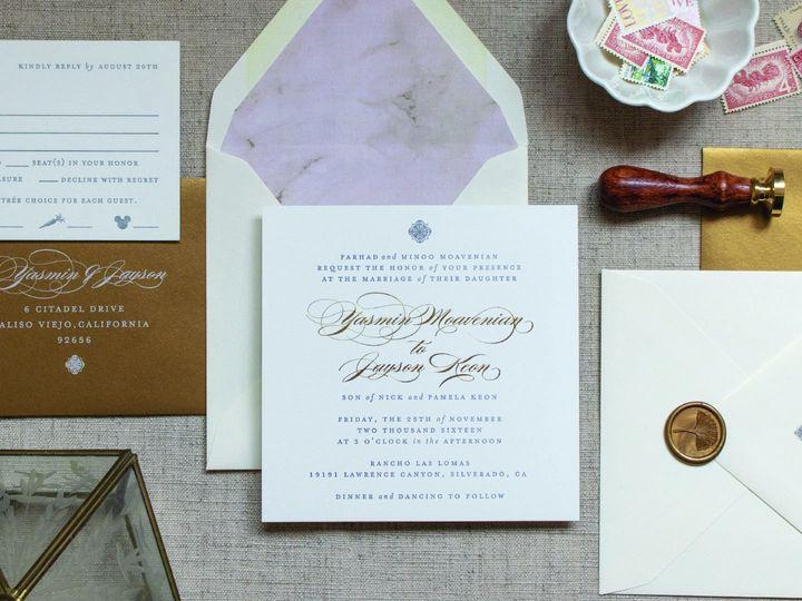 Tmx 1140x700 Wedding Gilded 0001 51 553145 1569513688 Tustin, California wedding invitation