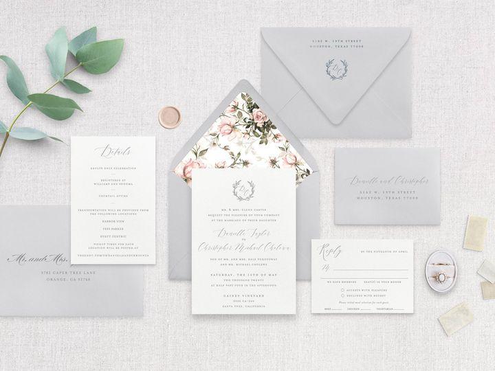 Tmx Bloom Papermintpress Horizontal 51 553145 159552292165089 Tustin, California wedding invitation