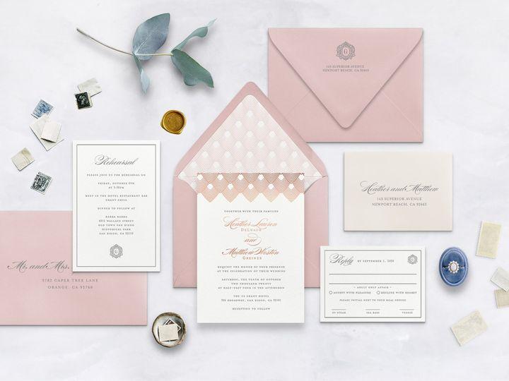 Tmx Broadway Wedding Invitations Papermintpress Horizontal 01 51 553145 159552294573369 Tustin, California wedding invitation