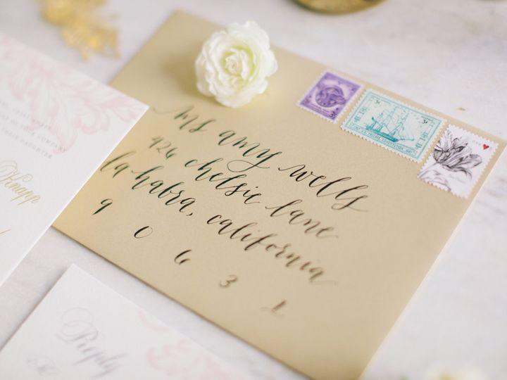 Tmx Calligraphy Modern3 51 553145 159552320882759 Tustin, California wedding invitation