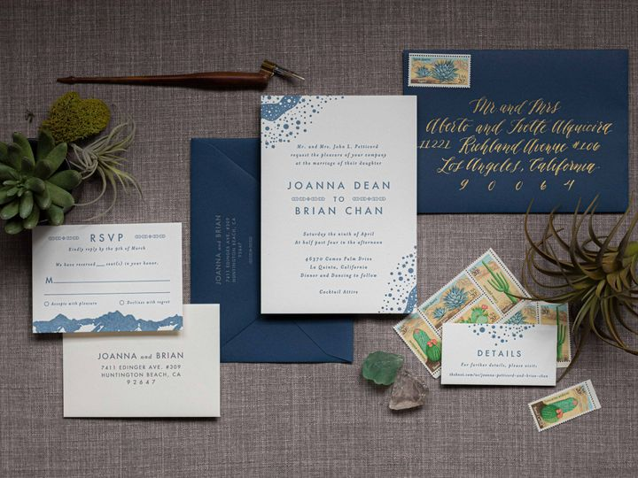 Tmx Celestial Papermintpress Horizontal 51 553145 159552297056753 Tustin, California wedding invitation