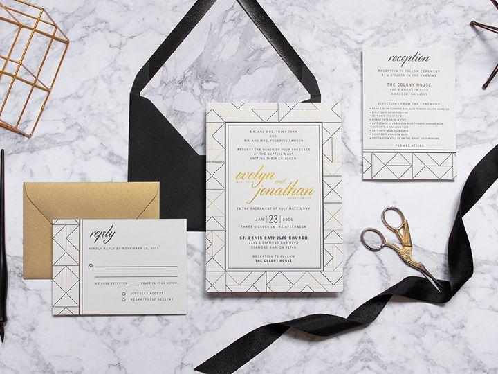 Tmx Gatsby Papermintpress Horizontal2 51 553145 159552298582183 Tustin, California wedding invitation