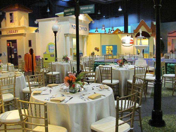 Sit down dinner at Pretend City
