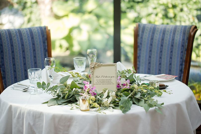 Sweetheart table in the Conservatory
