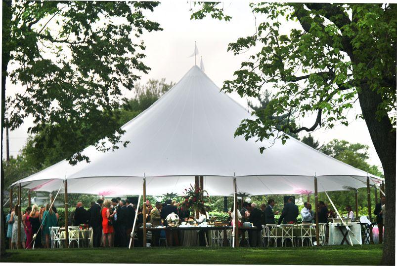 Sailcloth tent at Lexington Country Club