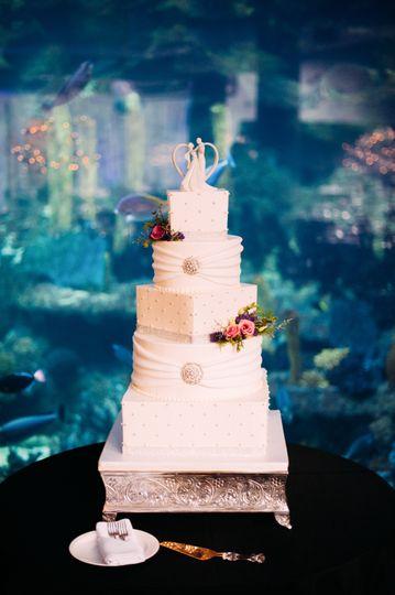 PPG Aquarium wedding cake