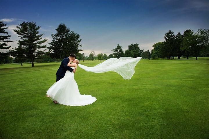 Summer golf resort wedding