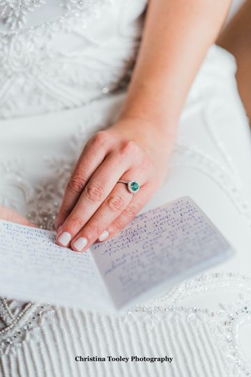 Reading vows emerald ring