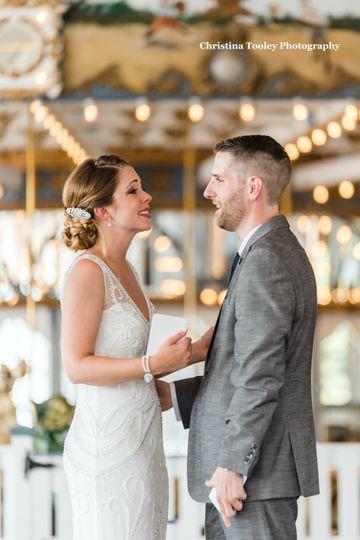 Vows at carousel