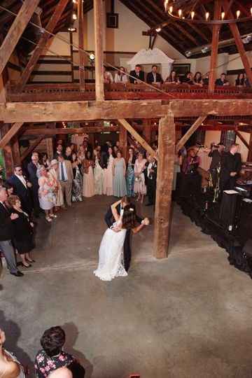 1st dance inside barn