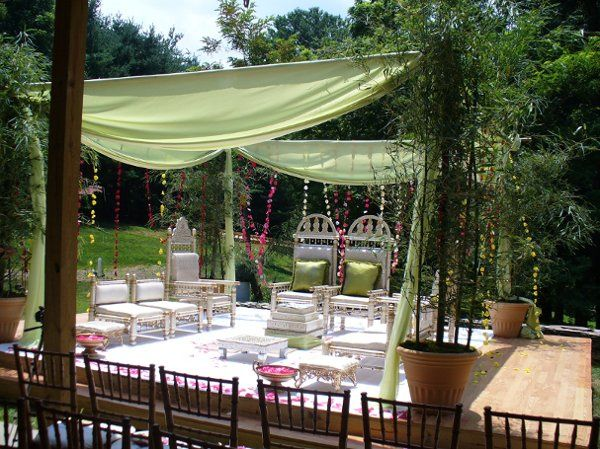 This is the Mandap set-up for a Hindu ceremony.