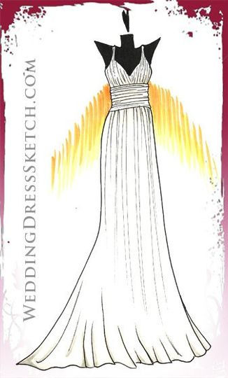 wedding gown illustration for a special bride!