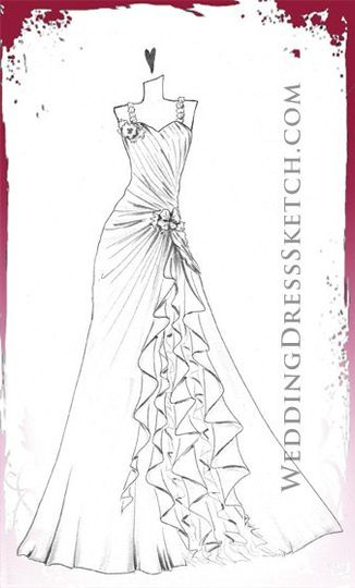 Wedding Dress Sketch .com - Dress U0026 Attire - Port Orange FL - WeddingWire