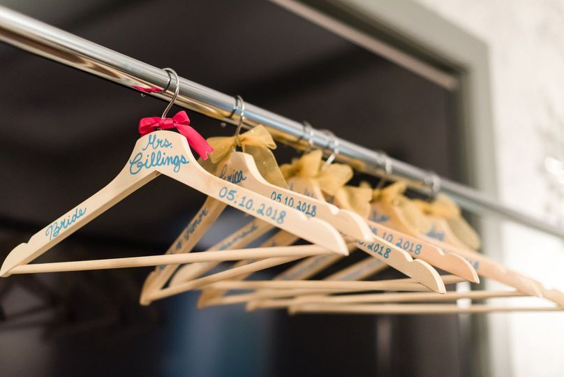 Customized hangers by by AmAZing Events & Services