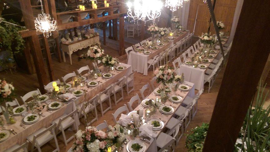 Reception hall is set