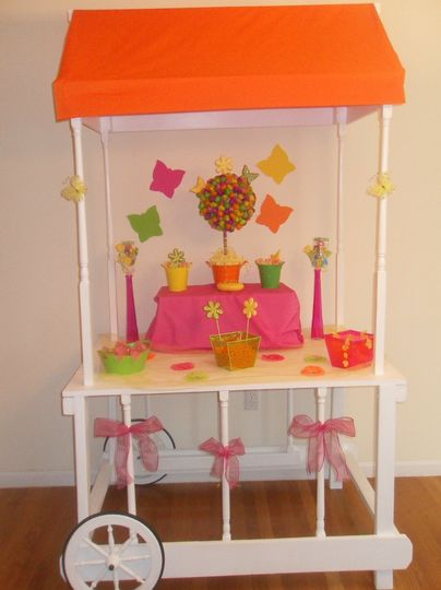 Wow your guests with our Party Cart, dressed to match your decor/theme. Call today!