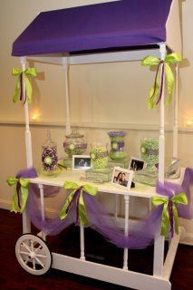 Purple Party Cart matched our couples decor perfectly and the candy to match as well!