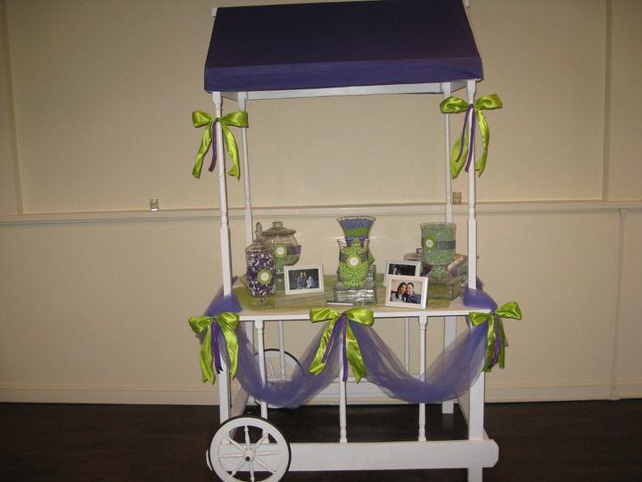 Party Cart has a custom made canopy top to match your decor/theme.