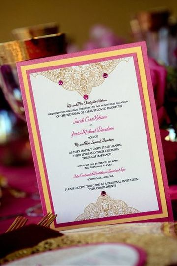Indian Paisley invitation