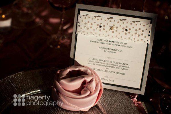Beautiful wedding menu