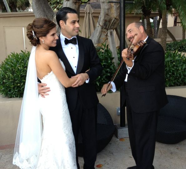 Serenading the newlyweds