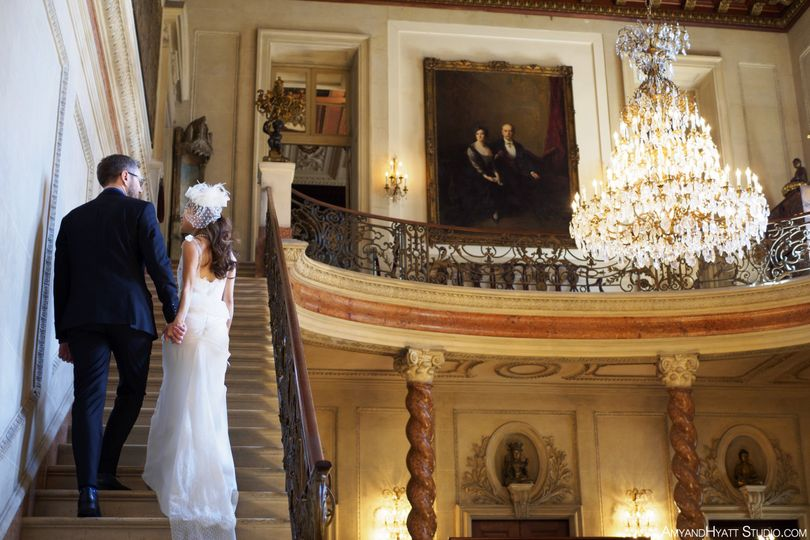 yanmin vadim wedding anderson house dc stairs