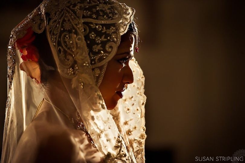 Embellished veil