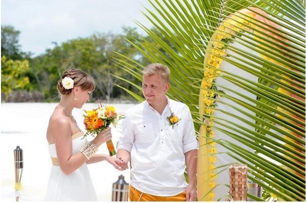 punta cana wedding tropical arc