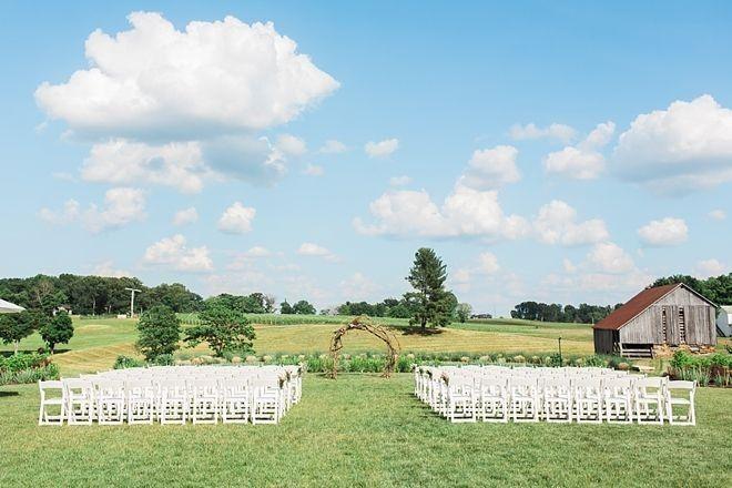 outdoor summer ceremony