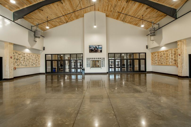 Lobby from the front doors