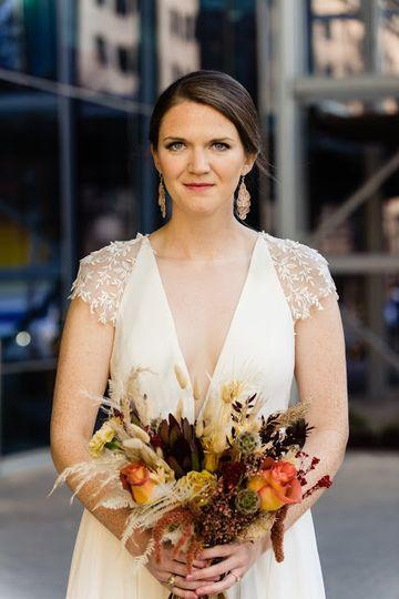 Bridal bouquet dried floral