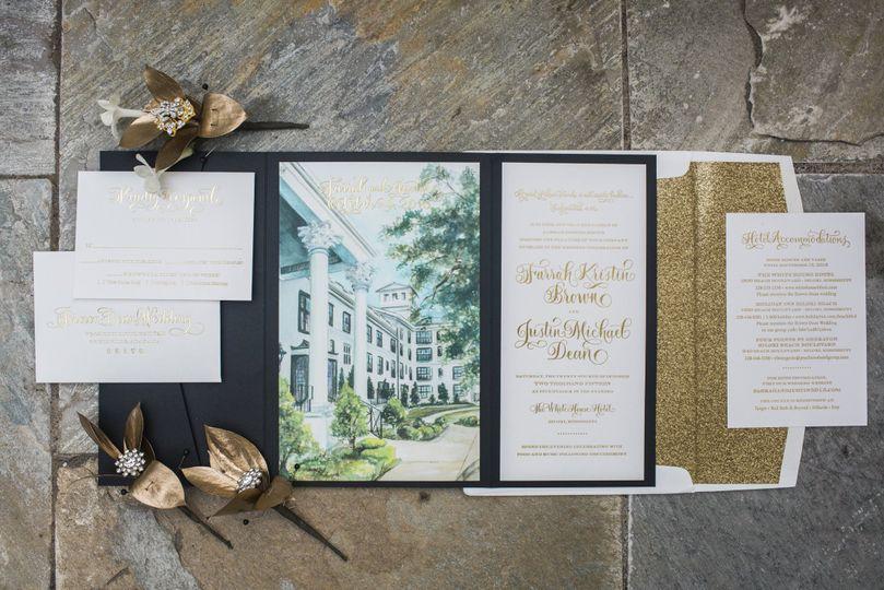 Soiree Signatures Calligraphy and Custom Designed Invitations – Custom Invitations Wedding