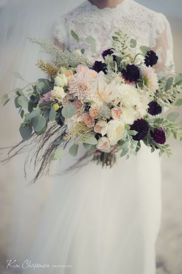 Vintage white flowers