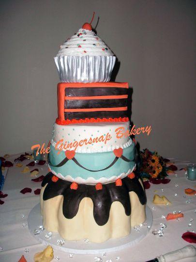 Dessert themed cake